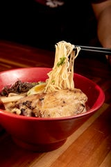 A bowl of Batten Ramen from Batten Ramen in Fort Lee on Wednesday September 30, 2020.