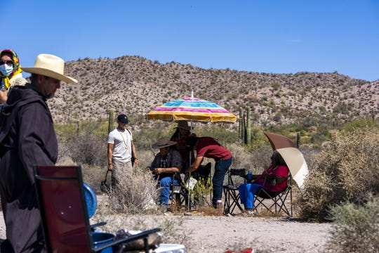 Elders from the Tohono and Hia-Ced O'odham rest after a ceremony to reaffirm religious and cultural practices along the Arizona-Mexico border.