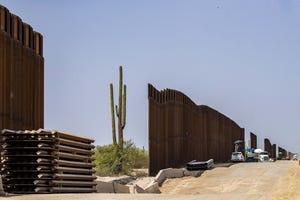 Organ Pipe Border Wall