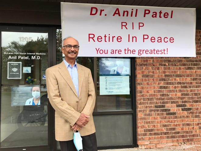 Dr. Anil Patel, 71, retired on Sept. 30, 2020, after serving the Blue Water Area for 36 years.