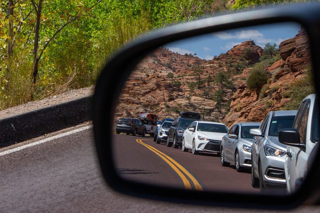 Zion National Park's historic Mt. Carmel Tunnel has been a source of traffic congestion for years.