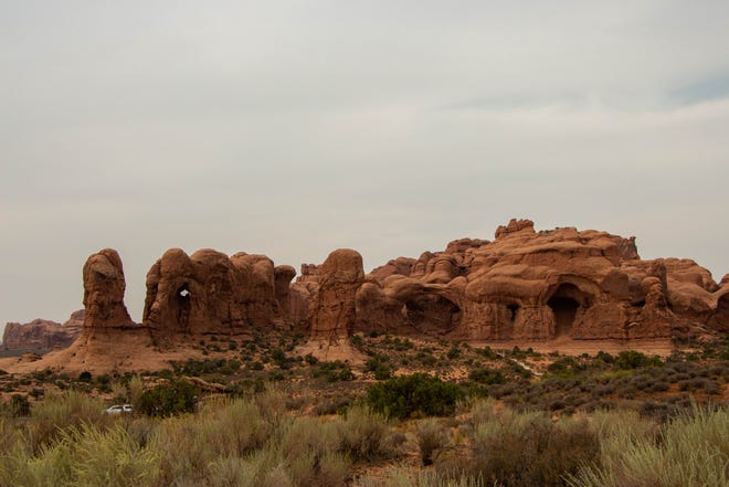 Arches National Park in Moab, Utah has been forced to shut their gates due to crowding over capacity.