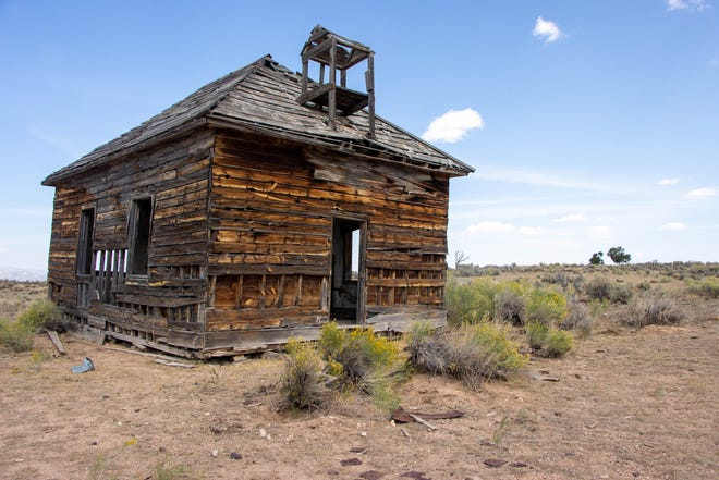 "The ""ghost town"" of Widtsoe, Utah was an early Latter-day Saint settlement and abandoned buildings still stand."