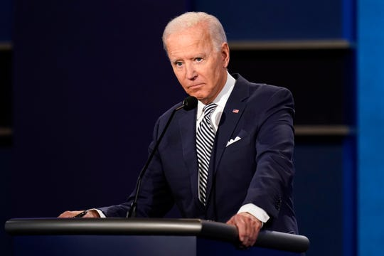 Democratic presidential candidate Joe Biden at the first presidential debate on September 29, 2020 in Cleveland.