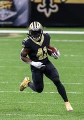 Saints running back Alvin Kamara had 58 rushing yards and 139 receiving yards in Week 3 against the Packers.