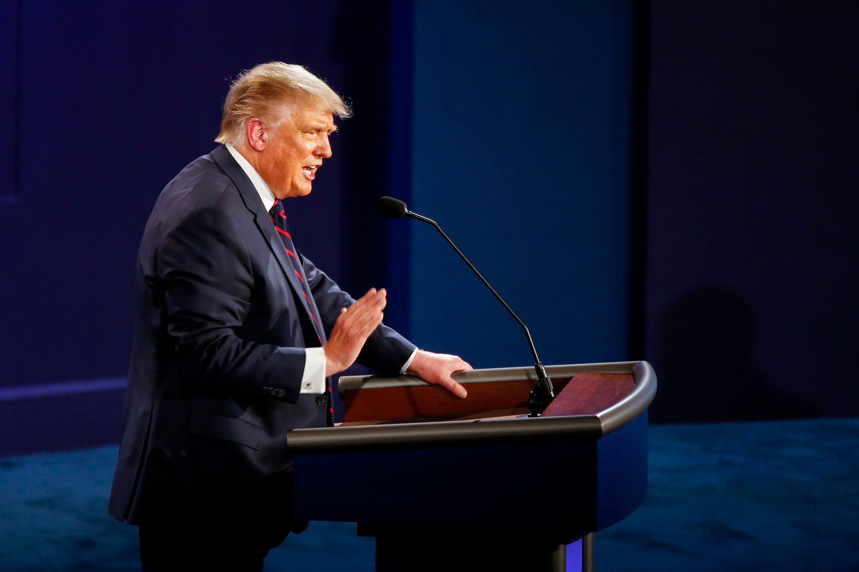 President Donald Trump, during debate, declares, 'I brought back Big Ten football'