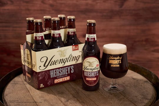 Yuengling Hershey's Chocolate Porter, which debuted last fall at bars and restaurants in 14 states, is now available in bottles and on draft throughout the 22 states Yuengling distributes – from Massachusetts to Indiana, including Ohio, Virginia, and Kentucky.