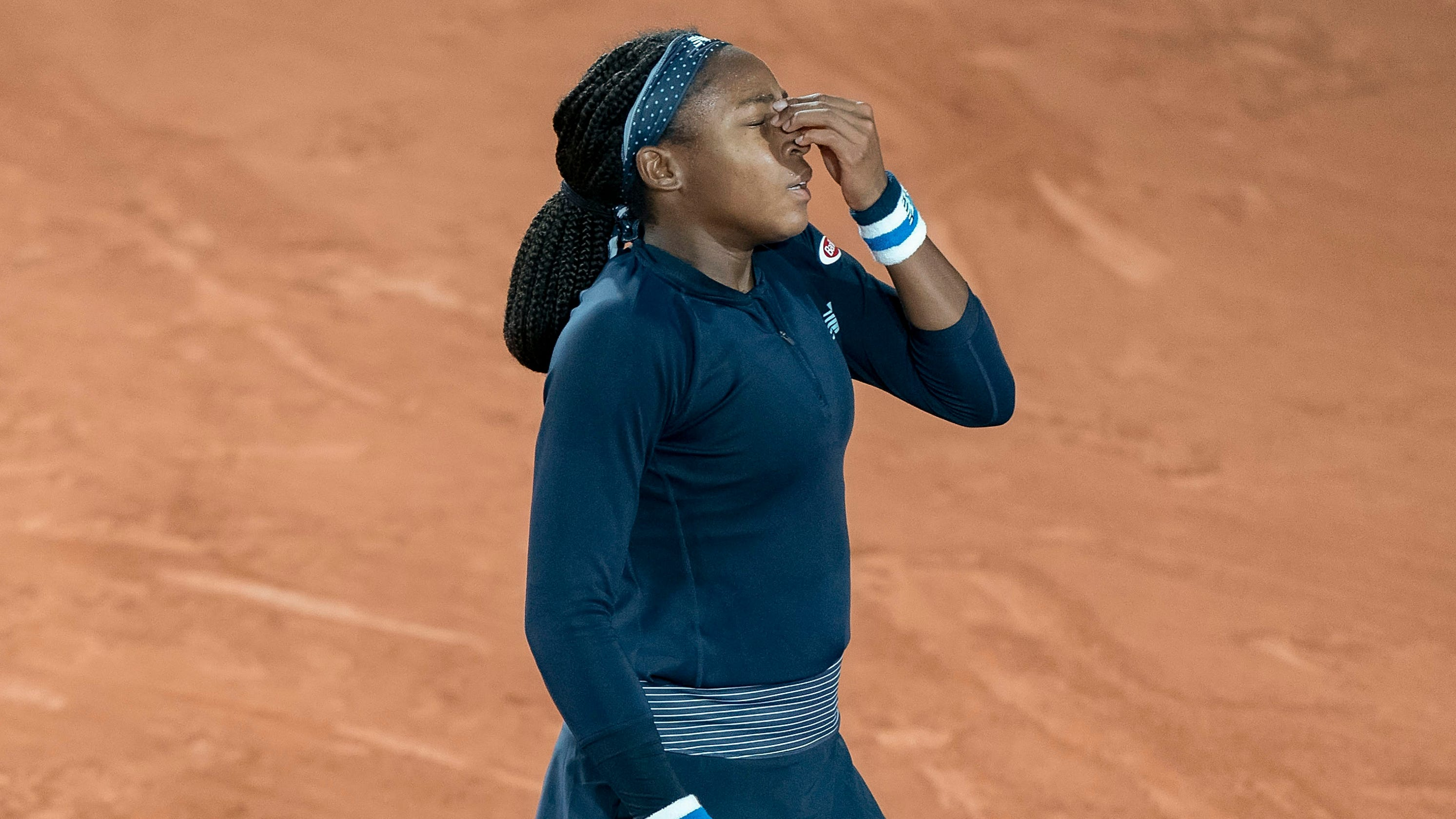 Coco Gauff double-faults 19 times in second-round loss to qualifier Martina Trevisan
