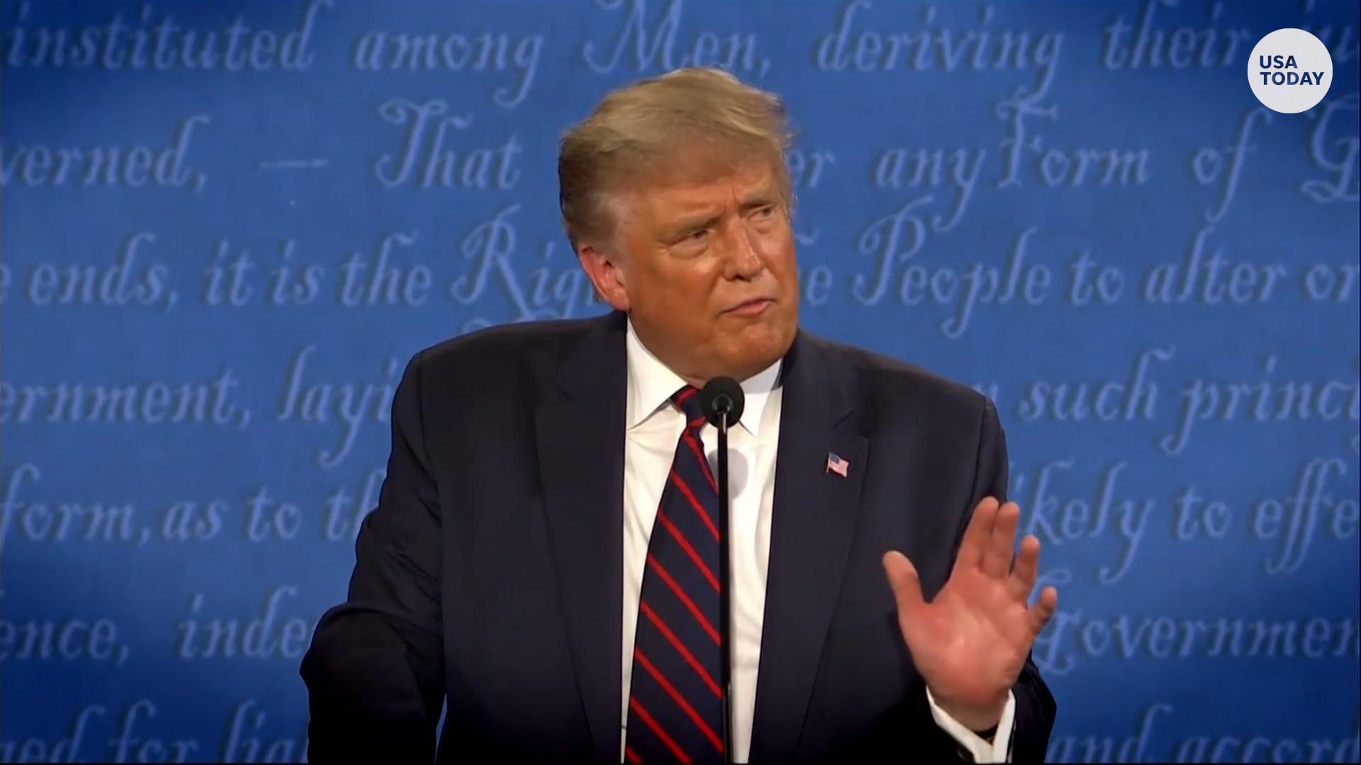 President Trump slams Hunter Biden at first presidential debate