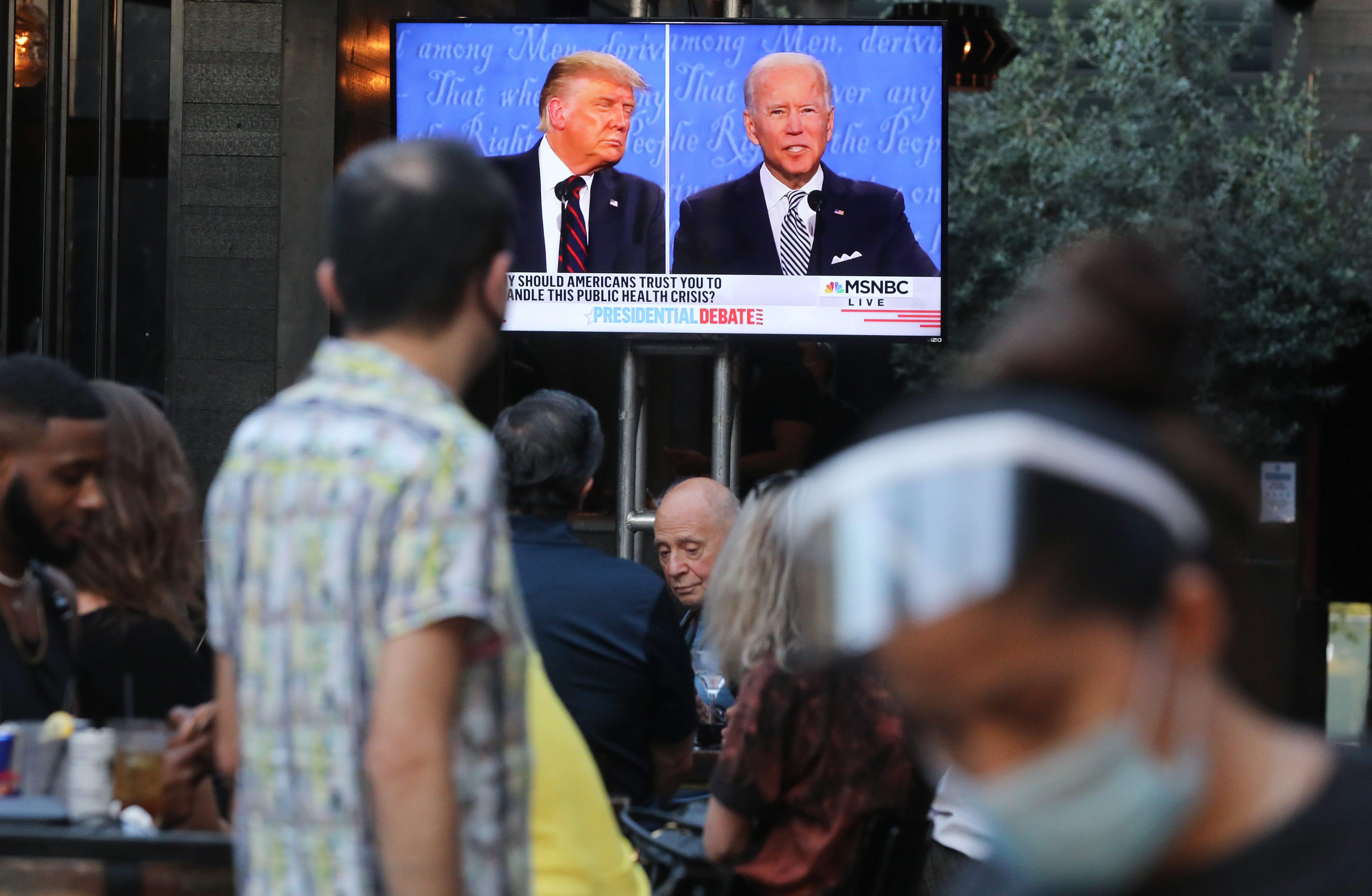 Social media says Trump, Biden debate was less negative and declared Biden the winner