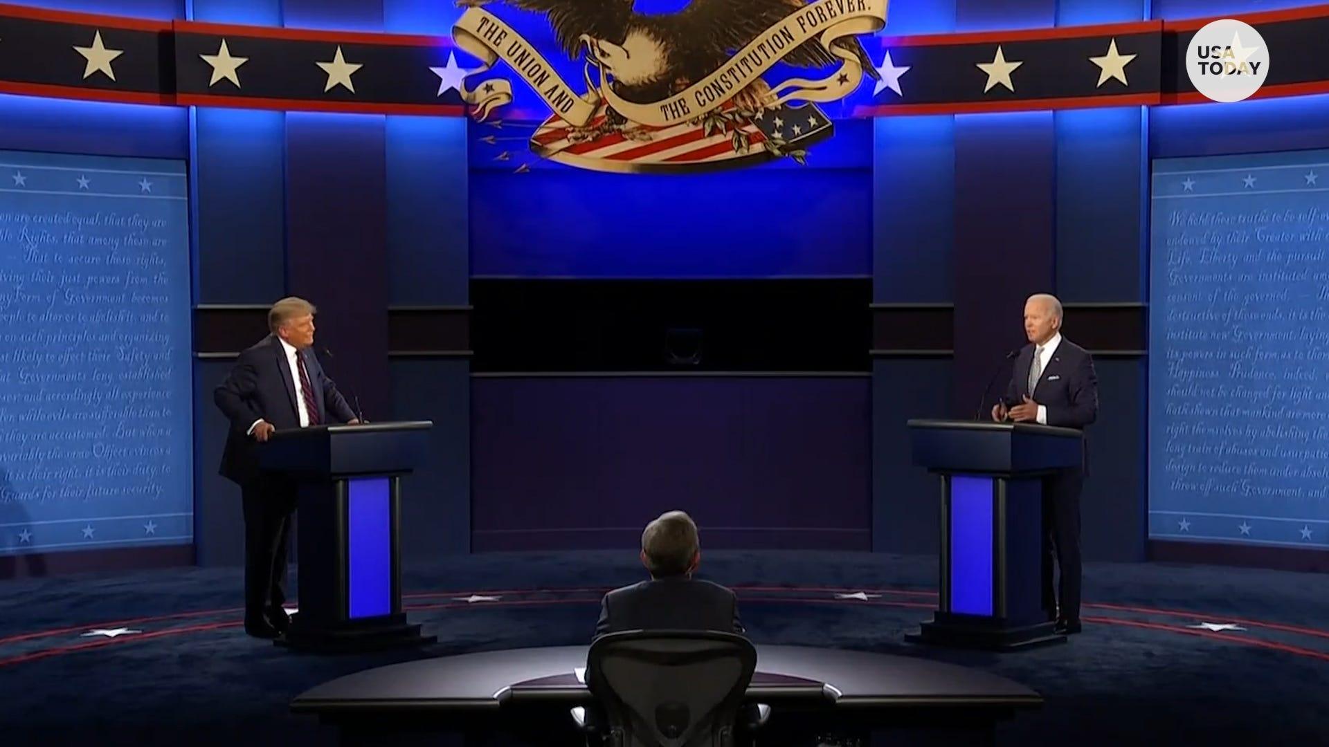 Pres. Trump and former Vice Pres. Biden spar over white supremacy, ANTIFA at first debate