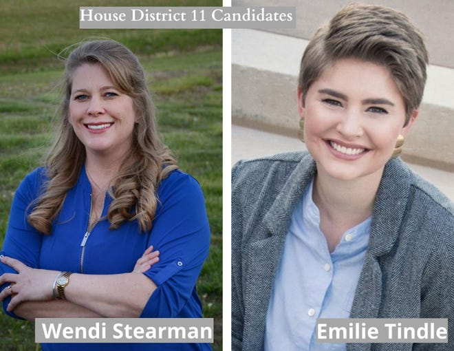 Republican Wendi Stearman and Democrat Emilie Tindle are running for State House District 11 in the Nov. 11 election.