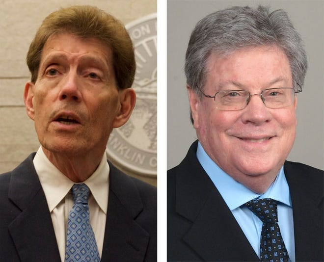 Ron O'Brien, left, and Gary Tyack, candidates for Franklin County prosecutor in 2020 election