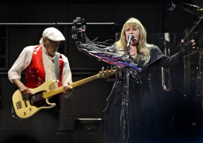 "Stevie Nicks and John ""Mac McVie of Fleetwood Mac. Sales of the group's song ""Dreams"" have skyrocketed since Nathan Apodaca's TikTok video."