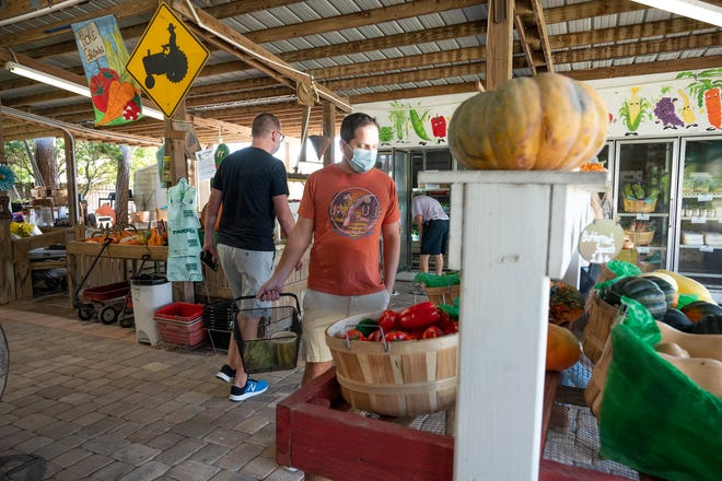 People shop around at the market at Long & Scott Farm in Mount Dora. [Cindy Peterson/Correspondent]