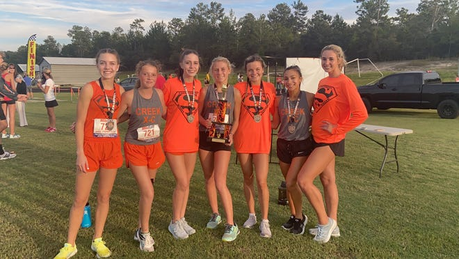 The Spruce Creek High girls cross country team won the 2020 University High School Titan XC Invite. Submitted Sept. 30, 2020.