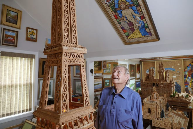 At 92, Walter Deuschle needed something to pass the time during the pandemic and to help him power through chemotherapy. So he built the Eiffel Tower with about 2,000 corks over nine months.