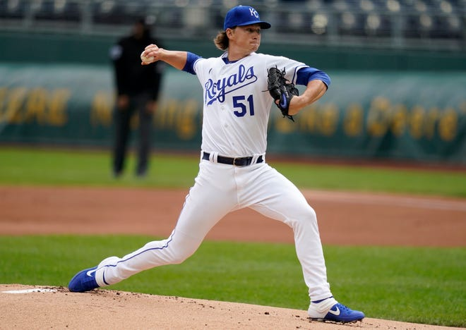 Right-hander Brady Singer made a good impression in his rookie season and looks to be a stalwart in the Kansas City Royals rotation in 2021 and years to come.