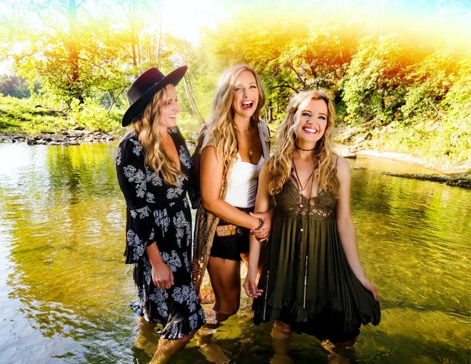 Country trio Ashley Gearing, Nicole Witt and Andrea Young, known as Farewell Angelina, return to Burlington Friday night for their Civic Music encore performance; the Nashville singers were a hit at Memorial Auditorium in 2018.
