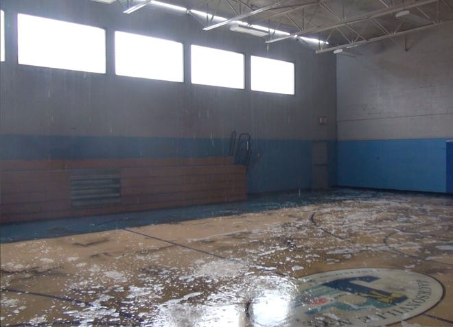 The Jack Amyette gym in Jacksonville was damaged two years ago from Hurricane Florence. [Contributed Photo]