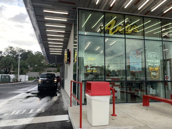 Andy's Frozen Custard, which opened Sept. 9, has a drive-thru that often spills out onto Florida Avenue.