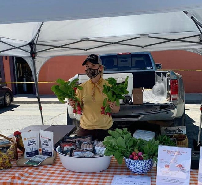 Belcampo Farms is one of several vendors at the Dunsmuir Farmers Market.