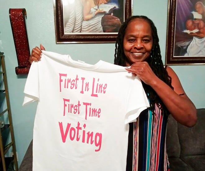 Betty Riddle, 63, registered to vote in Florida for the first time in 2019.