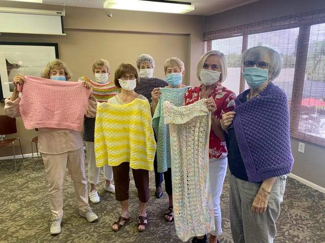 The Noble Knitters of Lakehouse West in Sarasota.