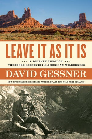 "Cover of UNCW professor David Gessner's new book, ""Leave It As It Is: A Journey Through Theodore Roosevelt's American Wilderness."""