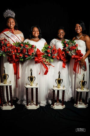 Miss Jabberwock 2020 Kennedy Nesmith, 1st Runner up Alexandria Henry, 2nd Runner up Aniyah Credle and 3rd Runner up Ashley Loftin. [CONTRIBUTED PHOTO]