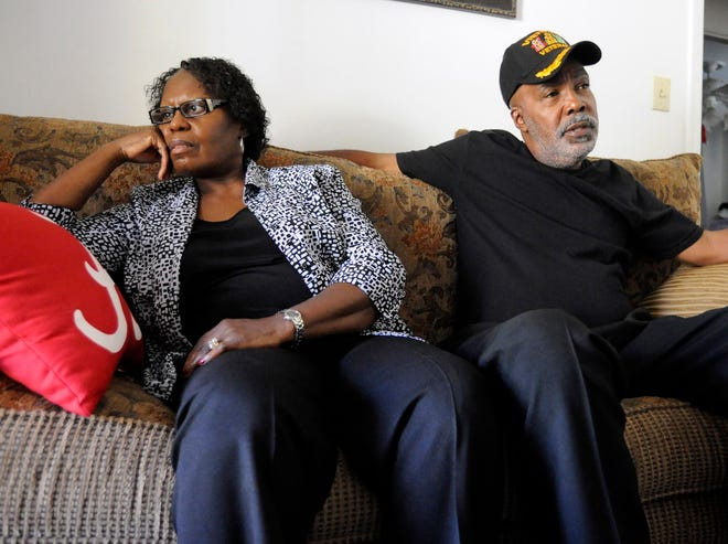 Sarah Collins Rudolph, a survivor of the 1963 16th Street Baptist Church bombing in which four young girls were killed, is pictured with her husband, George Rudolph, in a 2016 file photo.