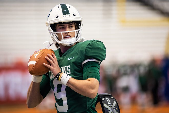 Former Cornwall quarterback Aidan Semo started his career off at Rabun Gap Nacoochee School with a three-touchdown game. KELLY MARSH/FOR THE TIMES HERALD-RECORD