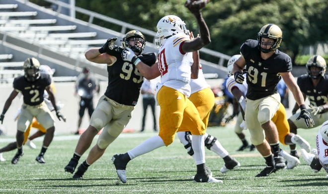 Army's defense is among the Division I leaders in several categories but coordinator Nate Woody believes there's room for improvement. MARK WELLMAN/ARMY ATHLETICS