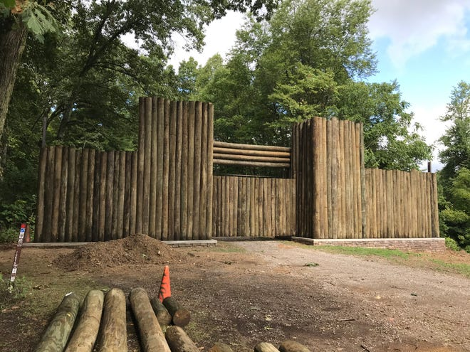 This photo of the stockade reconstruction was taken Aug. 29 at the camp.