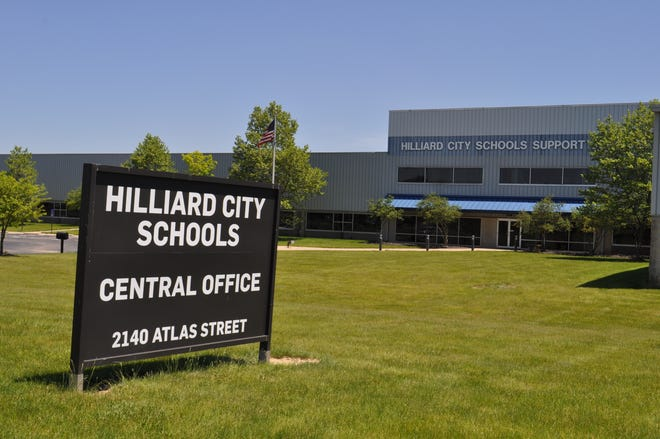 The Hilliard City Schools Central Office is at 2140 Atlas St. in Columbus.