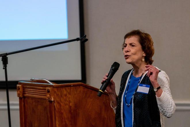 Barbara Sirotnik, professor of statistics at California State University, San Bernardino, speaks on some of the findings of the High Desert Survey in February 2020.