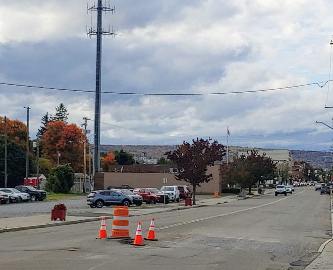 A trouble spot on South Main Street in the Village of Wellsville has been torn up again.