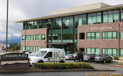 The Doctors Clinic in Silverdale, one of its seven clinics located throughout Kitsap County.