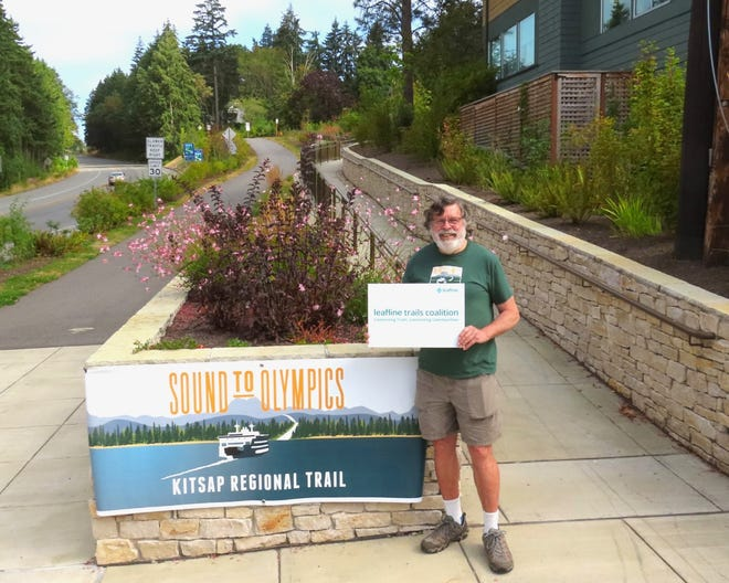 Don Willott, vice president of the North Kitsap Trails Association, is working with Leafline Trails Coalition in creating a network of connected trails throughout the Puget Sound region, including the Sound to Olympics Trail.