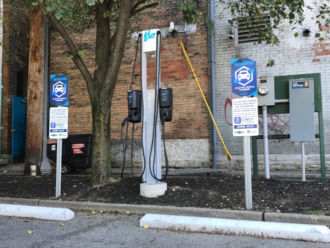 A Cincinnati startup called Electrada installed an electric vehicle charging station at Findlay Market.