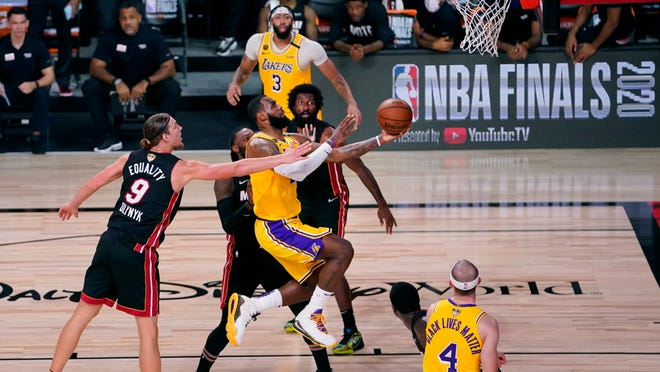 Lakers Lebron Roll In Game 1 Of Nba Finals Top Heat 116 98