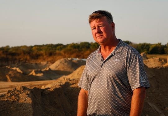 Beaver Materials owner Chris Beaver talks with IndyStar about the 10 year project at the gravel pit in Strawtown, Ind., Thursday, September 24, 2020.