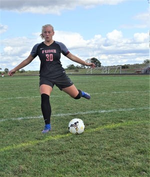 Fairfield Union senior Isabel Ruff became the Falcons' all-time leader in career assists. She broke her sisters record of 46 and currently has 49 career assists.