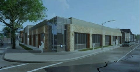 A new medical office building would replace the former Forest Home Avenue Branch Library under a new proposal.