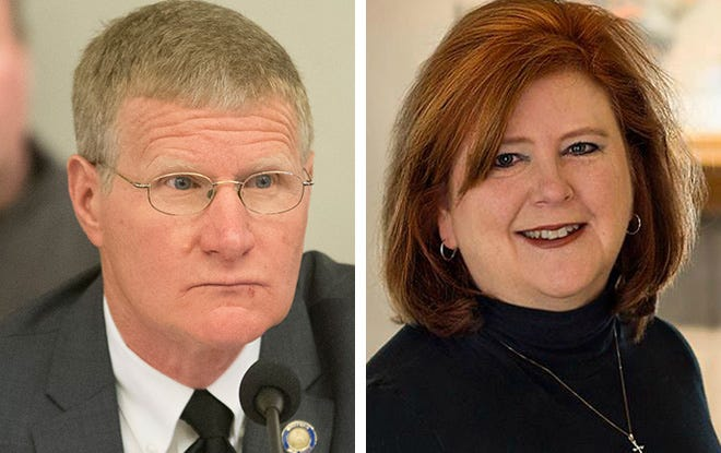 State Sen. Howard Marklein, left, and Rep. Barbara Dittrich, right