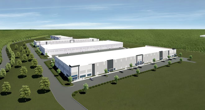 A rendering of an industrial development on Callis Road near State Route 109 in Lebanon.