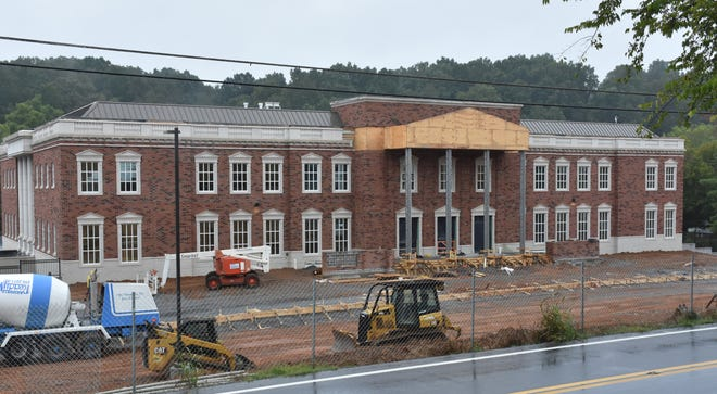 The Dickson County Justice Center is nearing completion in Charlotte.