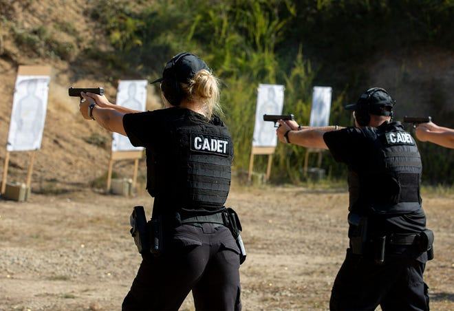 COTC Cadets fire their weapon during weapons training at Camp Falling Rock. Hiring diverse police officers in Licking County has been a challenge for departments in part because most of the people seeking to become officers are not minorities.