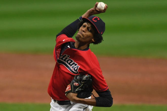 Pitcher Triston McKenzie is getting ready for his first full season in the Indians starting rotation. [Associated Press file]