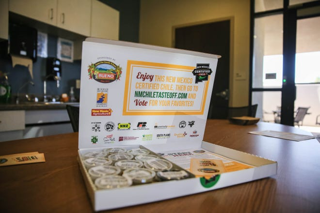 The Great New Mexico Chile Taste-Off sends out a taste test box for a socially distanced voting in Las Cruces on Thursday, Oct. 1, 2020.